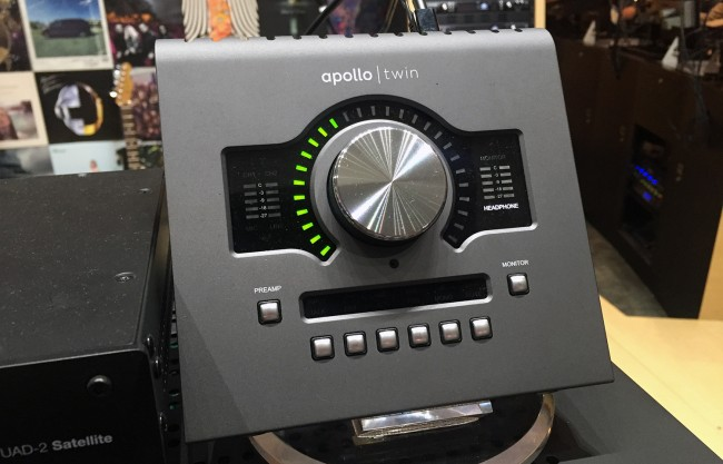 ▲ The 2017 NAMM ShowのUNIVERSAL AUDIOブースにて展示されていたApollo Twin MK2
