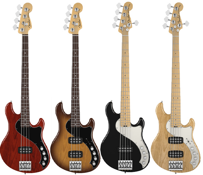 ▲American Deluxeシリーズ。左からDimension™ Bass VI/Dimension™ Bass VI HH/Dimension™ Bass V/Dimension™ Bass V HH