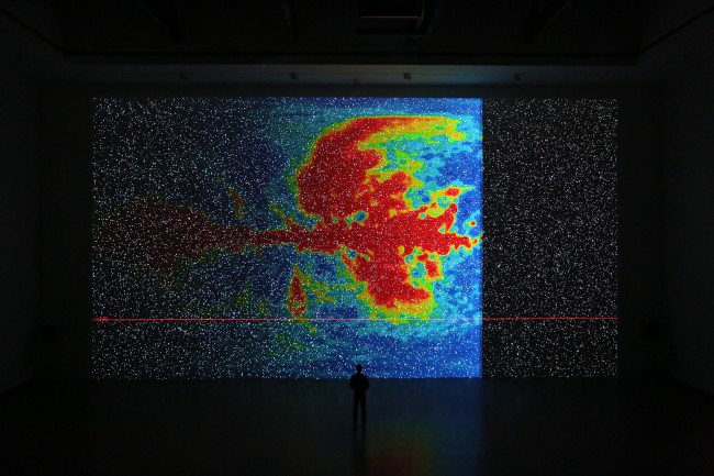 the radar [shanghai], site-specific installation, 2014© Ryoji Ikeda Courtesy of Shanghai 21st Century Minsheng Museum
