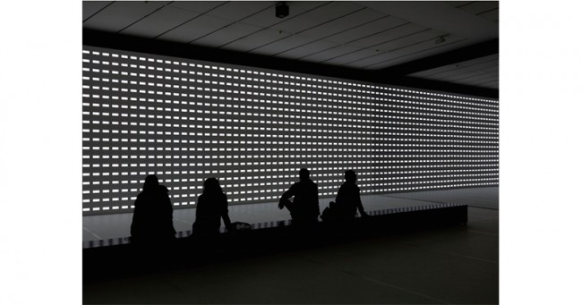 ▲Carsten Nicolai unidisplay 2012 Photos: Axel Schneider Courtesy Galerie EIGEN + ART Leipzig/Berlin and Pace Gallery